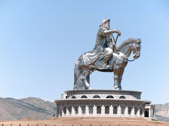 Genghis Khan Equestrian Statue in Mongolia