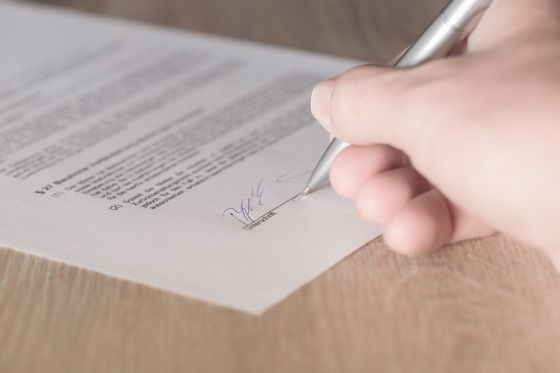 Signing an Arbitration Agreement