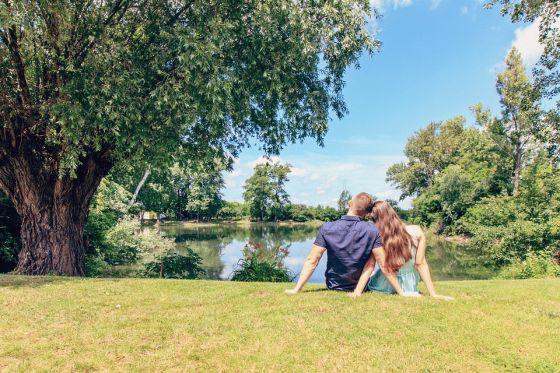 Happy Couple Enjoying Excursion