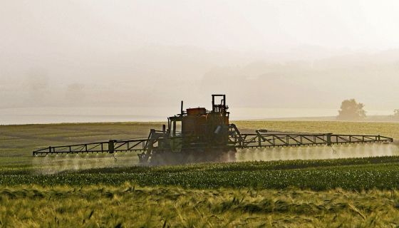 Applying pesticides in agricultural production