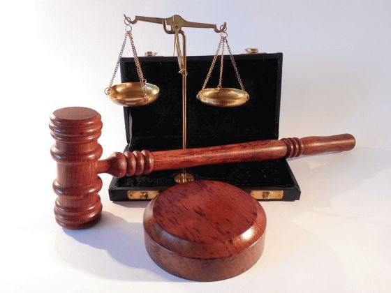 Courts of Law Gavel and Justice balance Scale