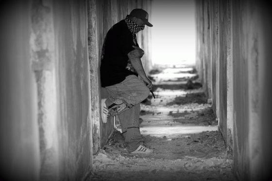 A Gang Member with Gun