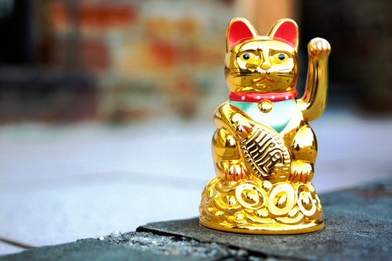Feng Shui Golden Lucky Cat