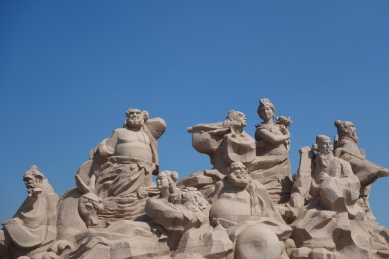 Statue of Eight Immortals or Ba Xian