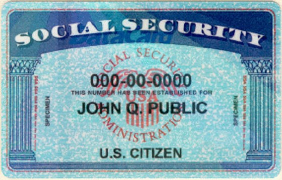 Never Carry With In Your Wallet or Purse - Social security card