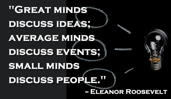 Great minds discuss ideas