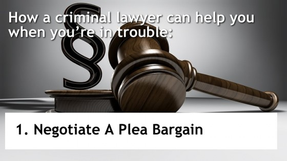 Negotiate A Plea Bargain