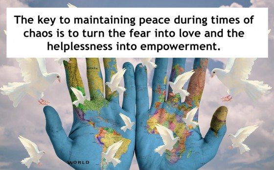 Turn the fear into love and the helplessness into empowerment
