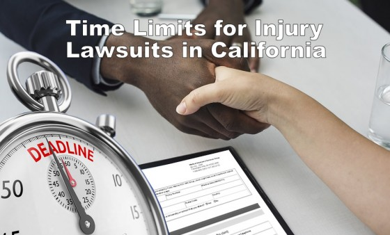 Time Limits for Injury Lawsuits in California