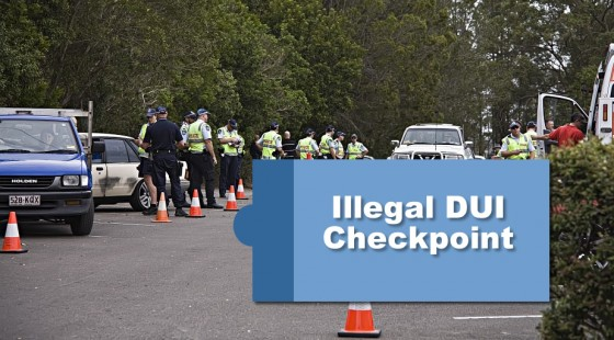 Illegal Driving Under Influence DUI Checkpoint