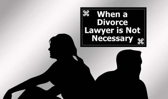 When a divorce lawyer is not necessary