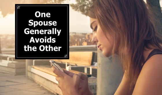 One Spouse Generally Avoids the Other