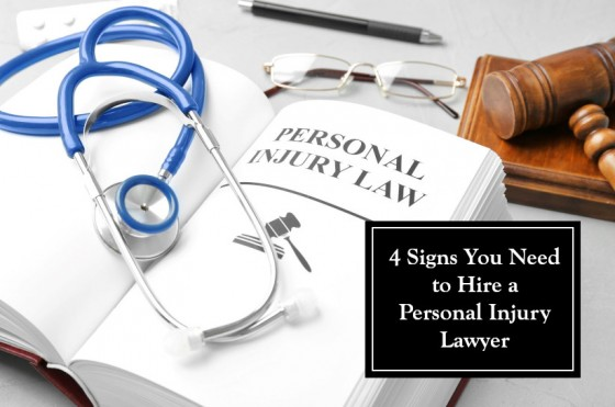 4 Signs You Need to Hire a Personal Injury Lawyer