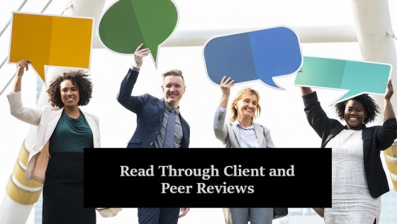 Read Through Client and Peer Reviews