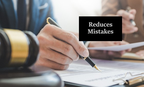 Reduces Mistakes