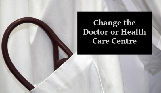 Change the Doctor or Health Care Centre