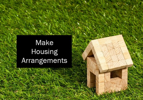 Make Housing Arrangements