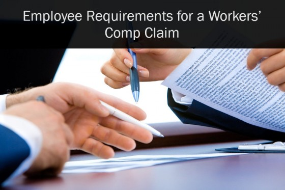 Employee Requirements for a Workers' Comp Claim