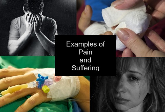 Examples of Pain and Suffering