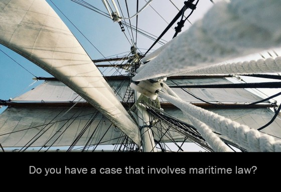 Do you have a case that involves maritime law