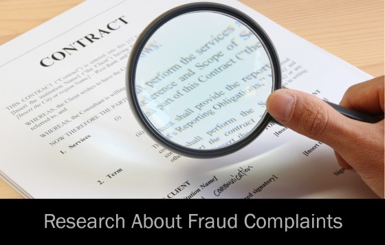 Research About Fraud Complaints