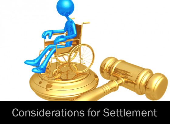Considerations for Settlement
