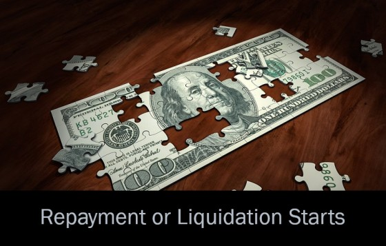 Repayment or Liquidation Starts