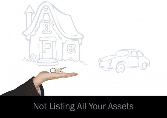 Not Listing All Your Assets