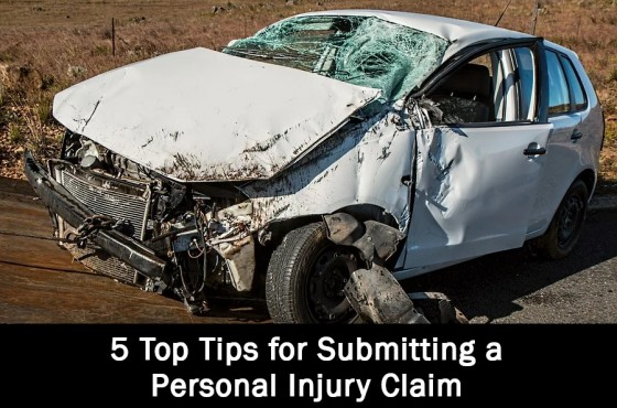 5 Top Tips for Submitting a Personal Injury Claim