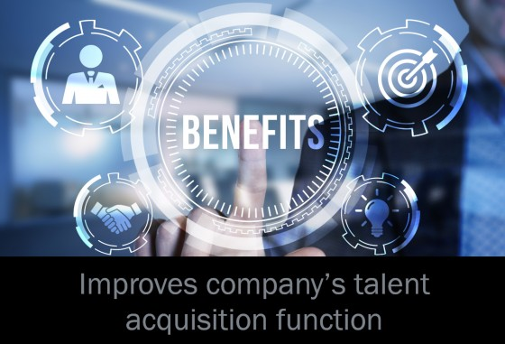 Improves company's talent acquisition function