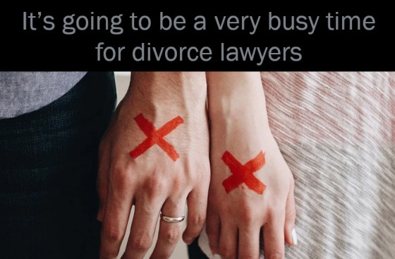 It's going to be a very busy time for divorce lawyers