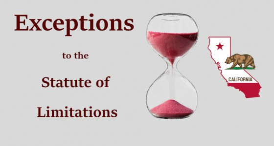 Exceptions to the Statute of Limitations