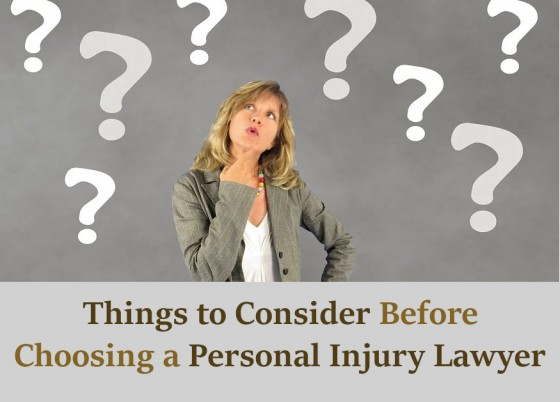 Things to Consider Before Choosing a Personal Injury Lawyer
