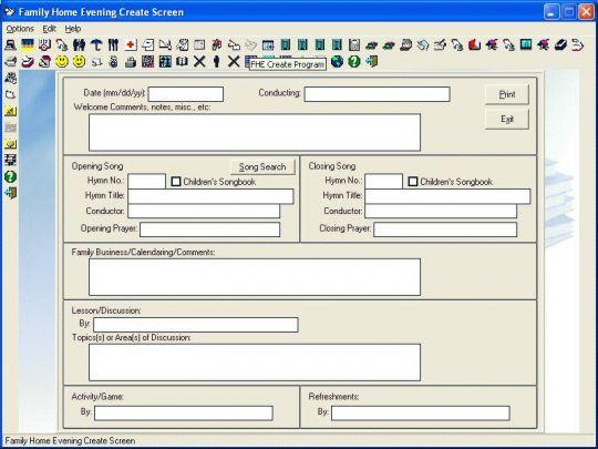 LDS Home Information Screenshot