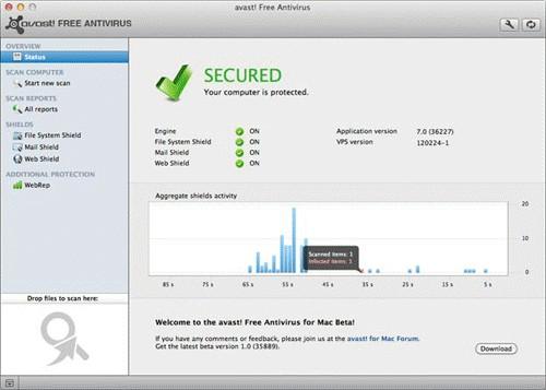 avast! Free Antivirus Screenshot