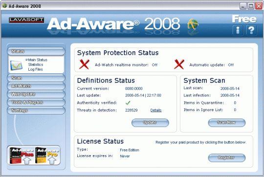 Ad-Aware 2008 Free Screenshot