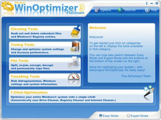 Ashampoo WinOptimizer Platinum 3 Screenshot