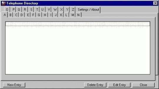 Easy Telephone Directory Screenshot