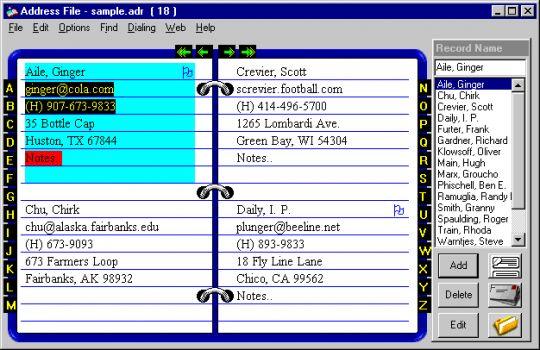 Adr_Book Screenshot