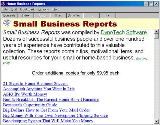 Business Reports Screenshot