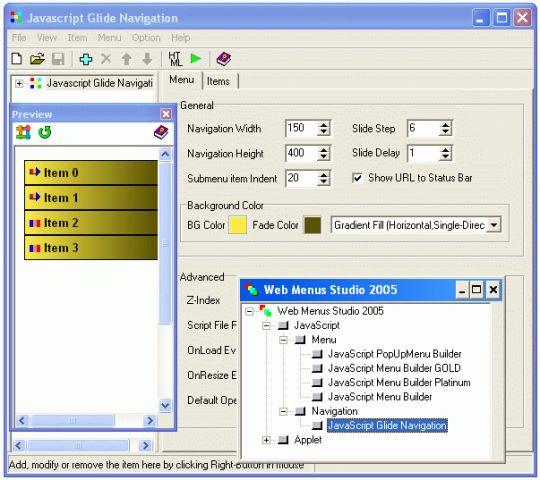 Web Menus Studio 2005 Screenshot