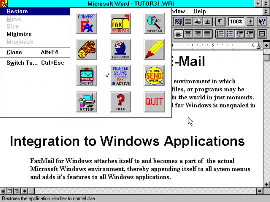 FaxMail for Windows Screenshot