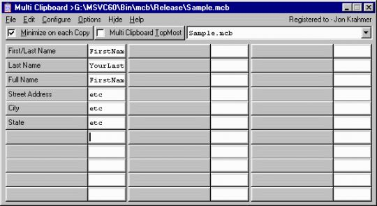 Multi Clipboard Screenshot