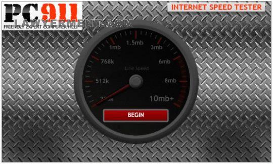 PC911 Internet Speed Tester Screenshot