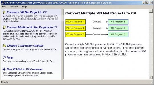 VB.Net to C# Converter Screenshot