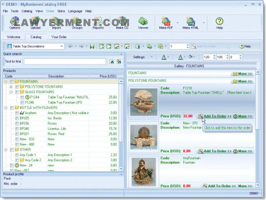 MyBusinessCatalog Platinum Screenshot