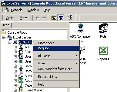 Excel Server 2004 Standard Edition Screenshot