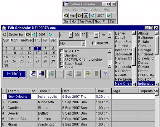 Cotton Calendar Screenshot