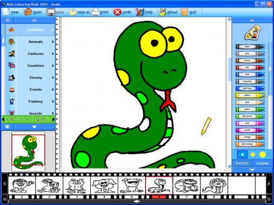 Kids Colouring Book 2006 Screenshot