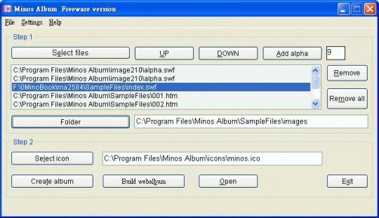 Minos Album Free Version Screenshot